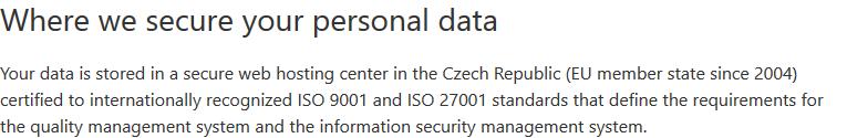 Integromat Datenspeicherung