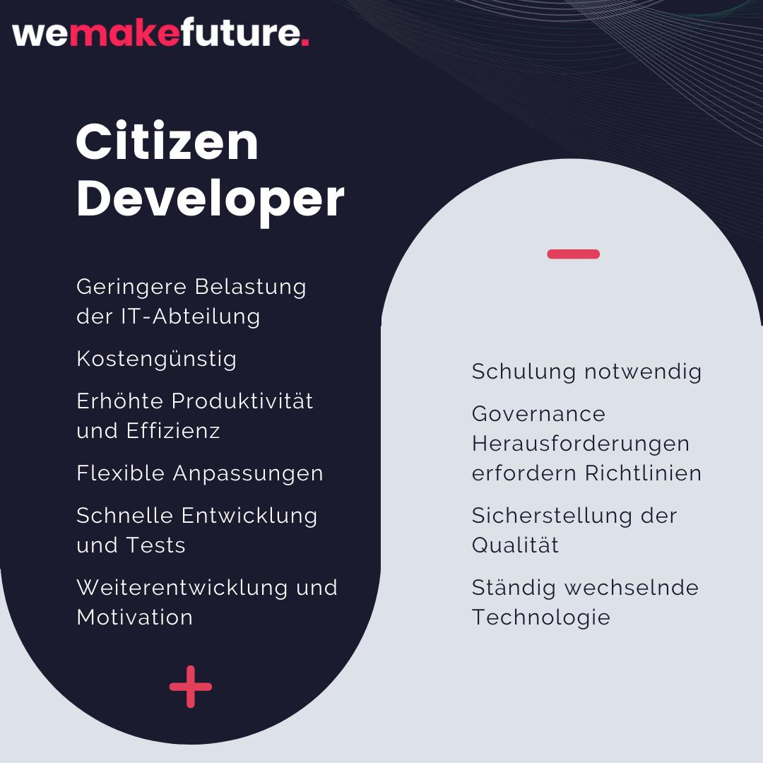 Citizen Developer Vorteile Nachteile