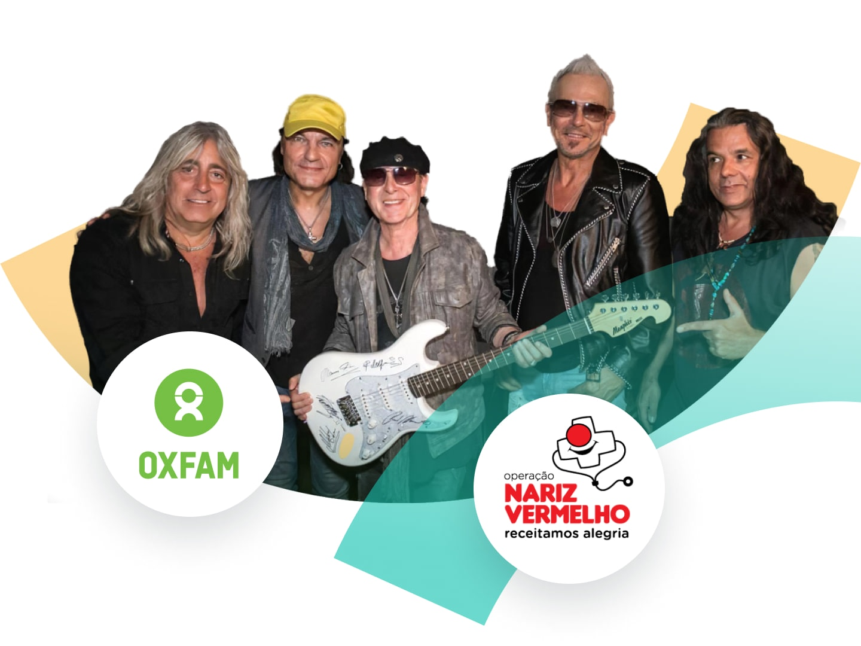 Charitable community (Scorpions signed guitar)