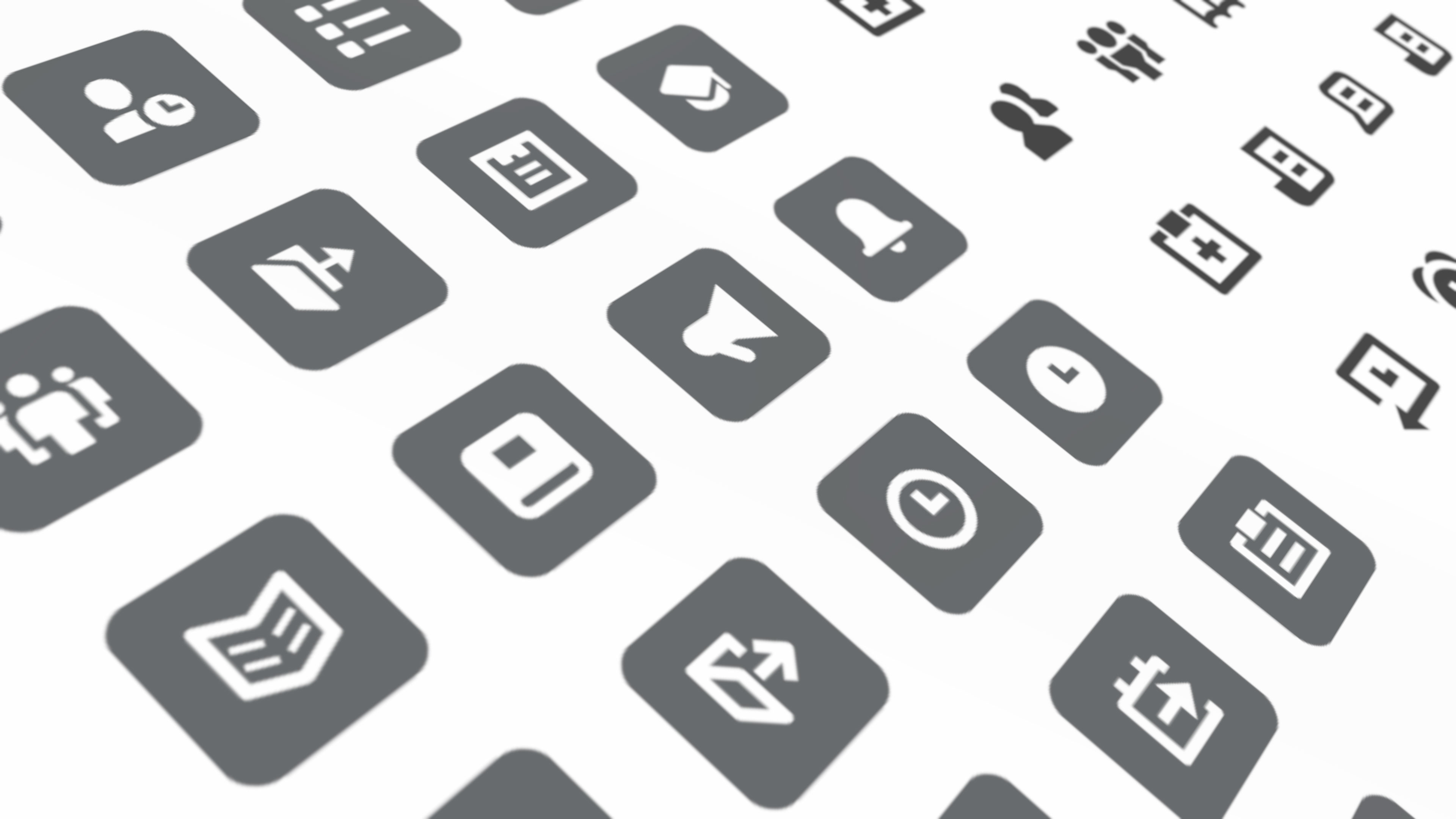 icons used for the CRM software