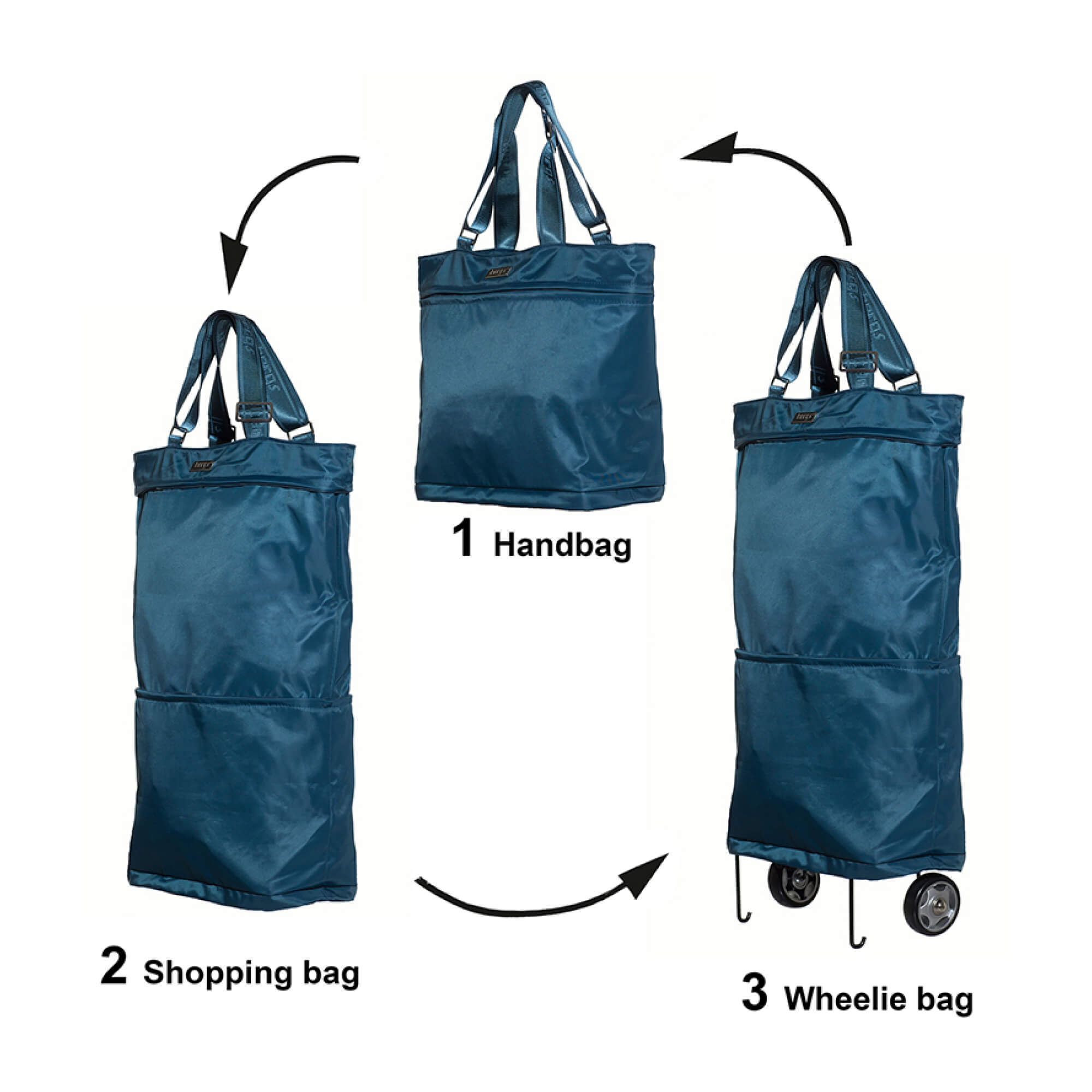 The Bergs3in1 bag with three easily changeable sizes in one.