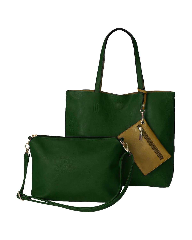 BergsReversible Bag Set Green-Mustard Yellow