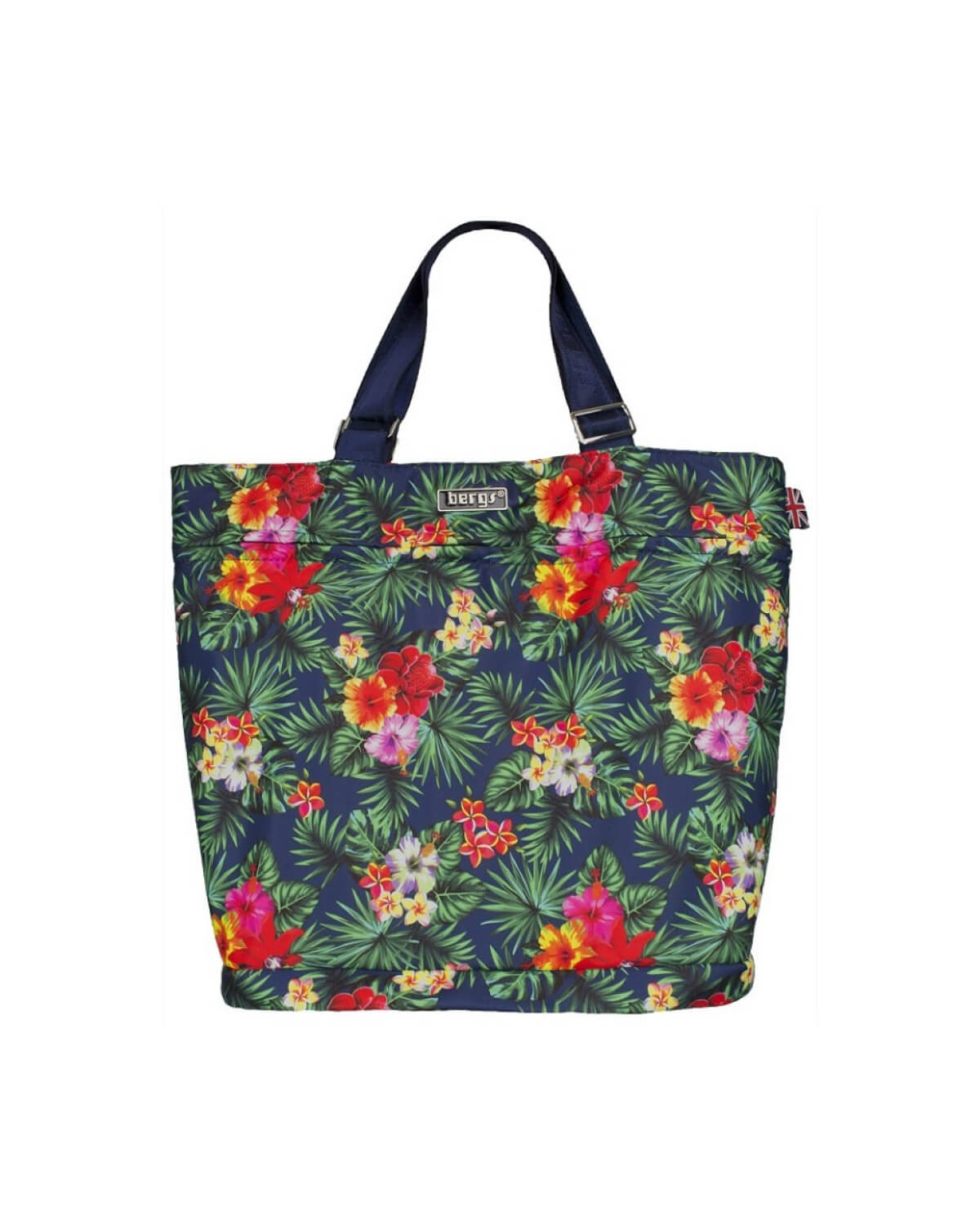 Bergs3in1 Multifunctional Bag Navy with Japanese Roses