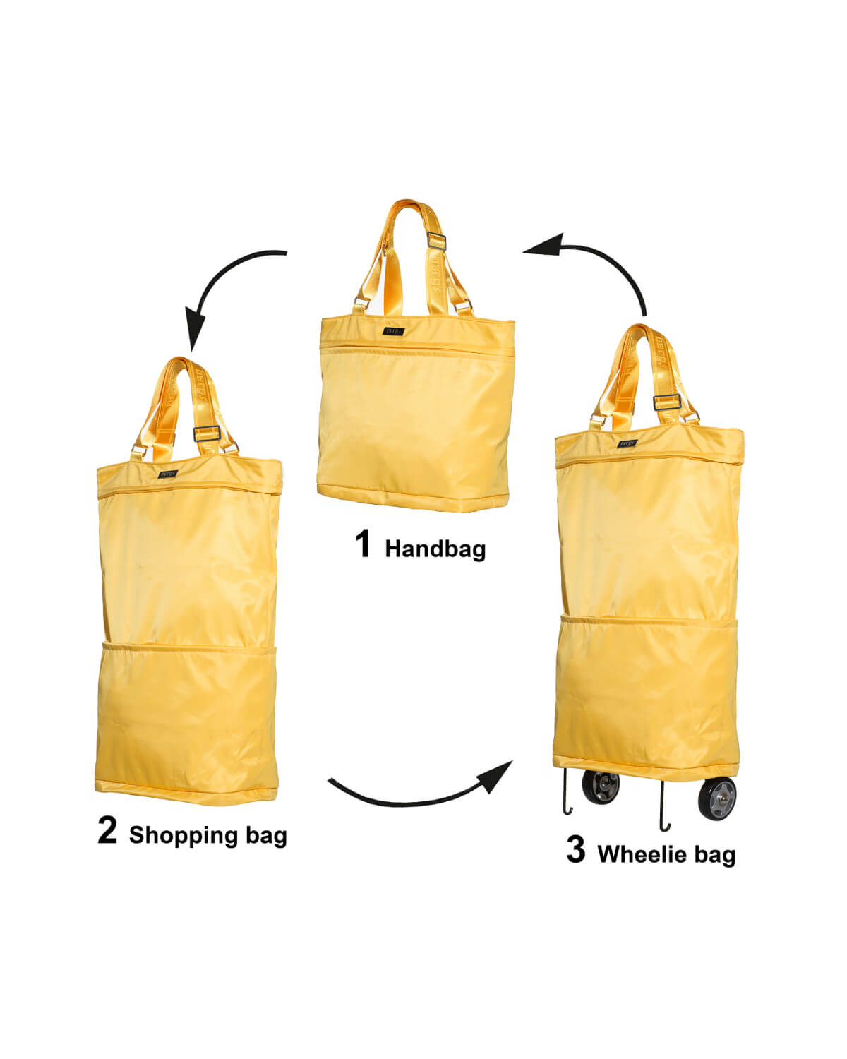 Love to pack the kitchen sink? Us too. If you look like a pack mule by the end of the day, it's the Bergs3in1 you need. With three easily changeable sizes in one, leave your days of being weighed down with shopping bags behind you.