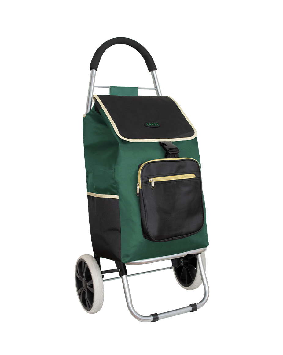 Large Shopping Trolley with Extra Pockets