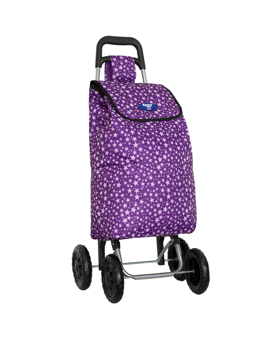 4 Wheels Shopping Trolley with Patterns