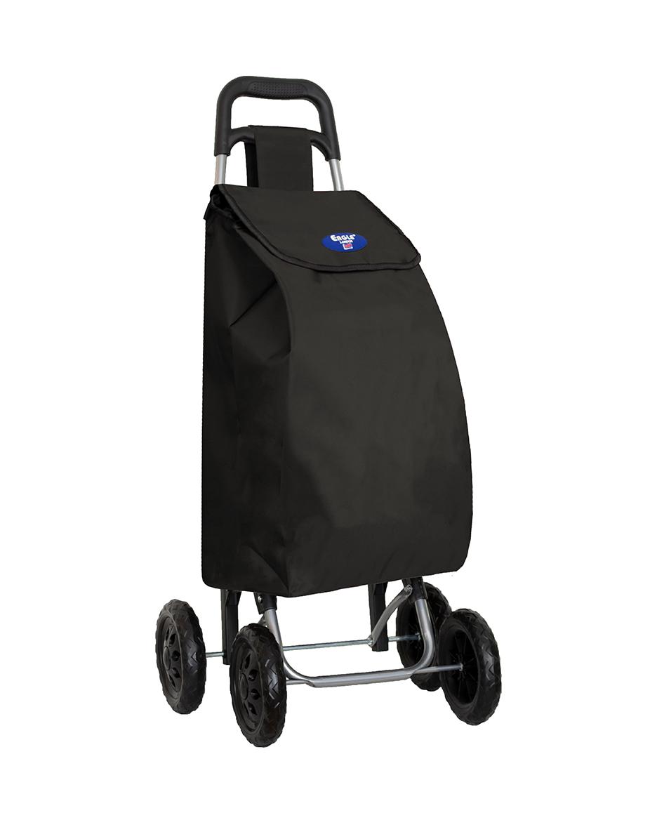4 Wheels Shopping Trolley Black
