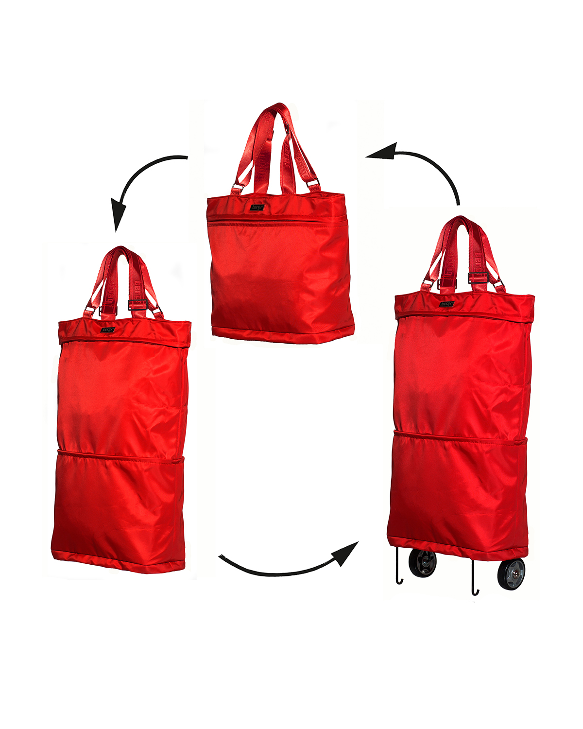 Bergs3in1 Multifunctional Women's Bag Polyester Red