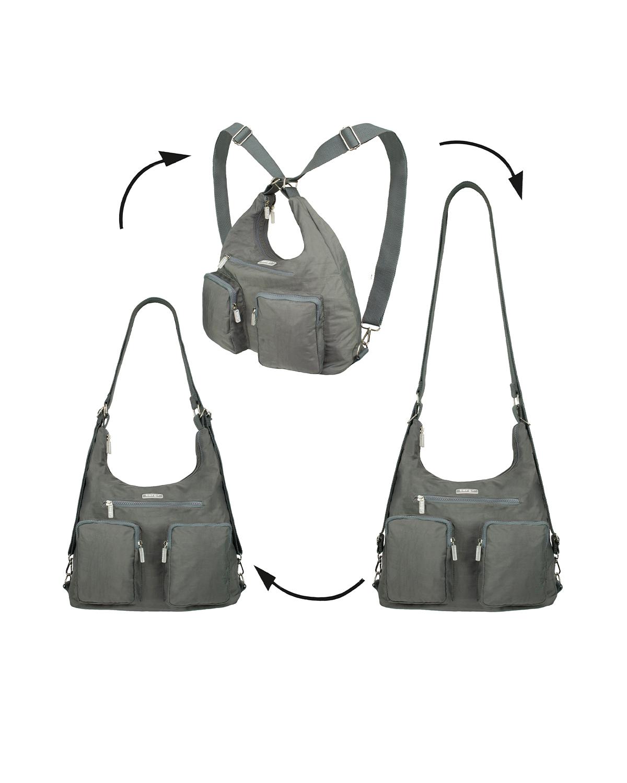 BergsFlexy Multifunctional Unisex Bag Nylon Grey Large