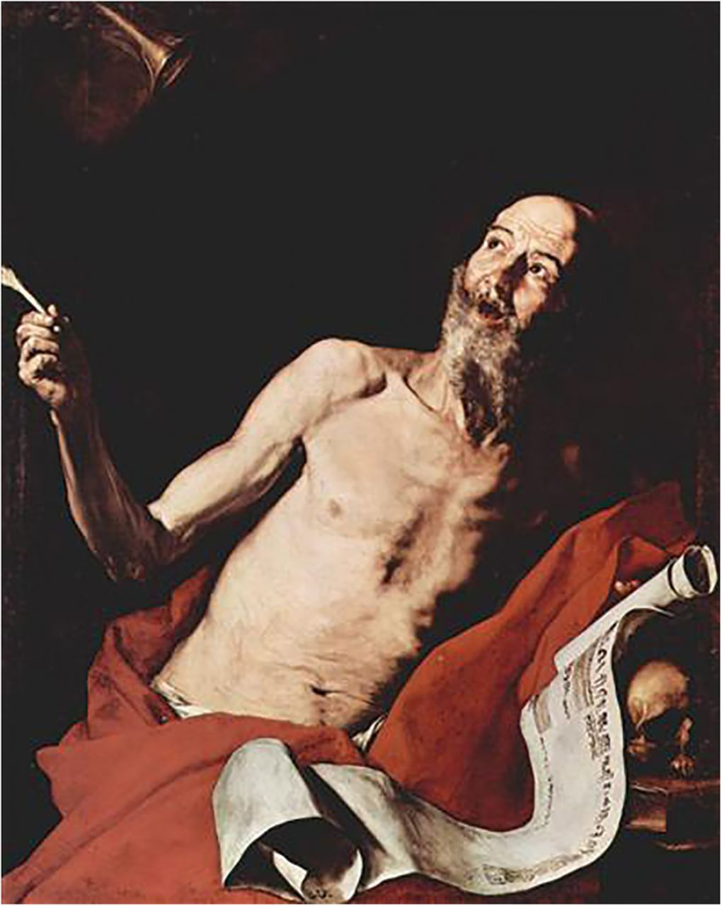 Jusepe de Ribera painting of a man with pectus excavatum