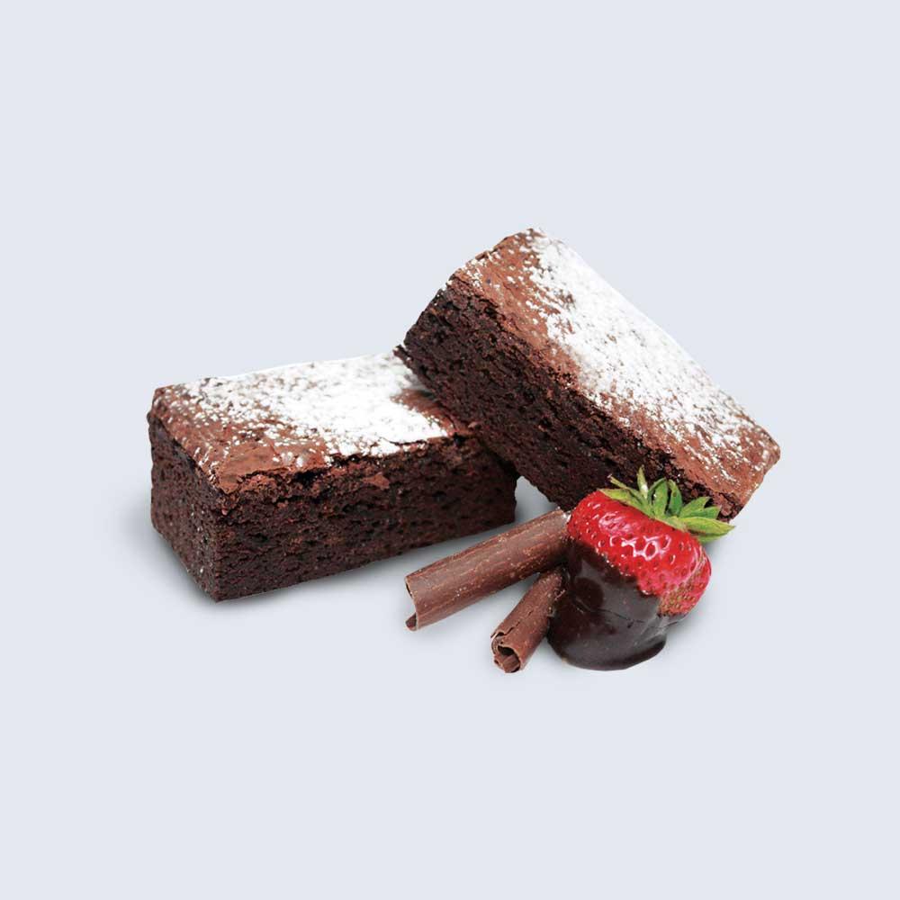 Chocolate Fudge Brownie Slice - High