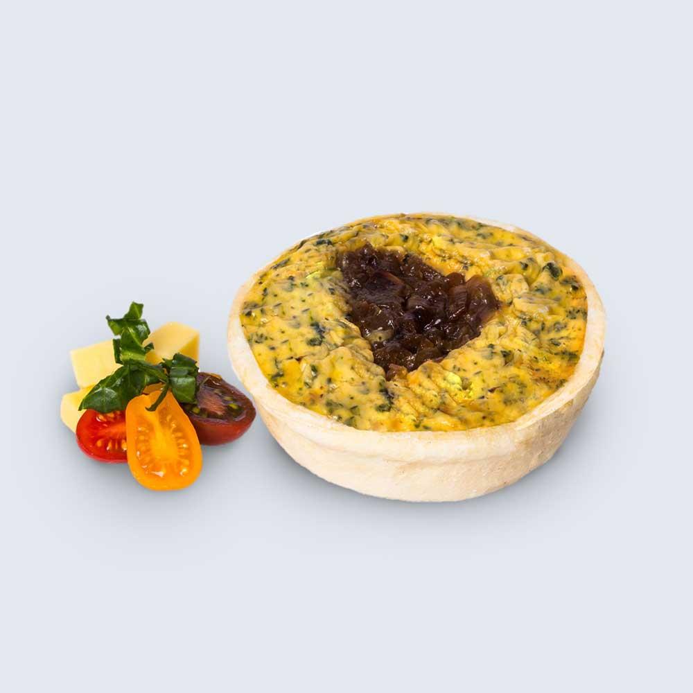 Spinach, Feta & Caramelised Onion Quiche