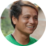 A Jiva farmer from Banaeng, Indonesia.