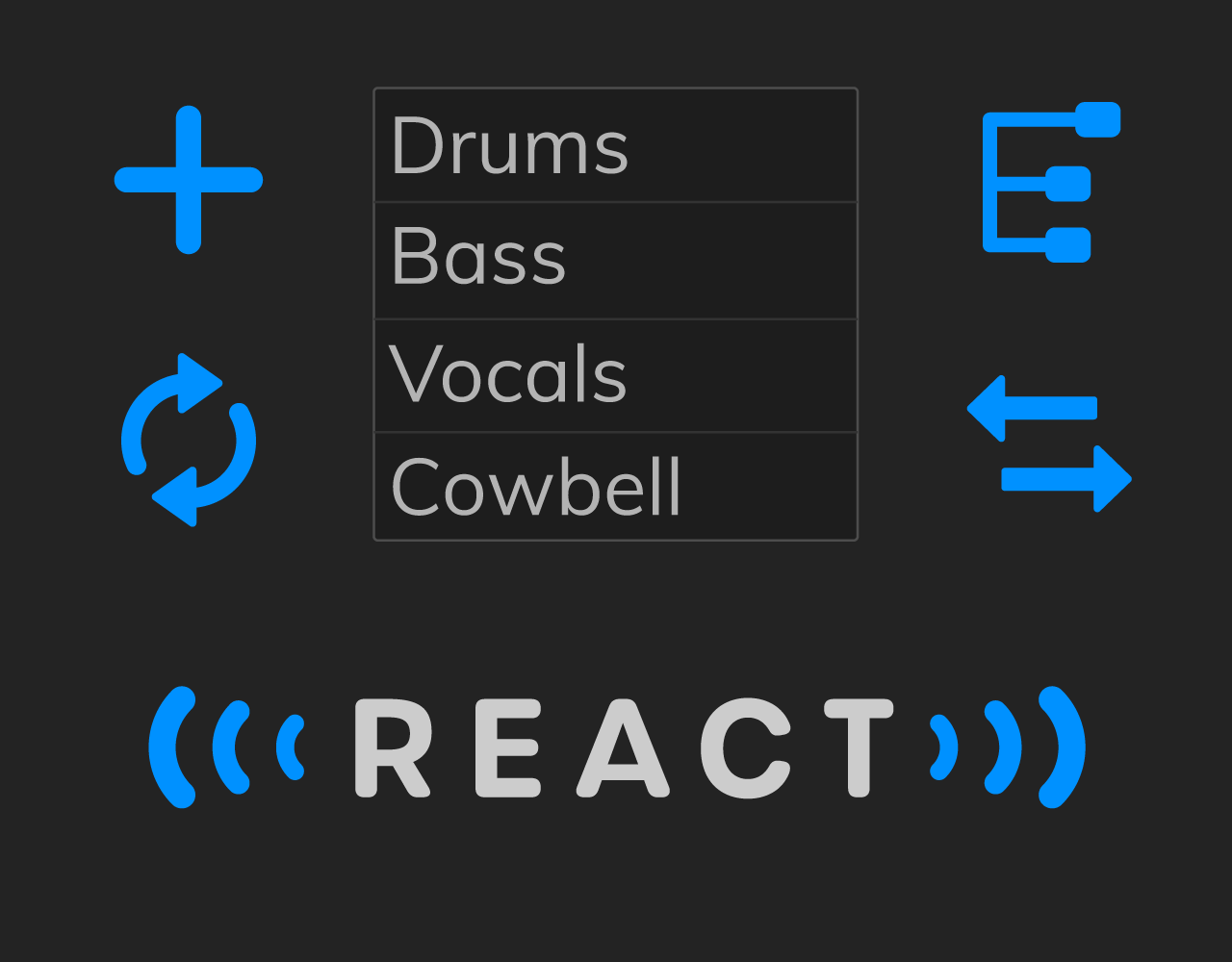 The reactor select screen from the FreqReact user interface