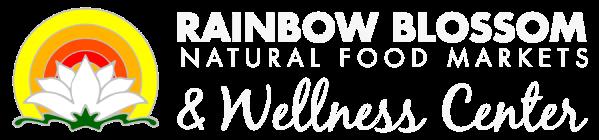 Rainbow blossom logo. At Rainbow blossomes you can pick up Barr Farms CSAs near me