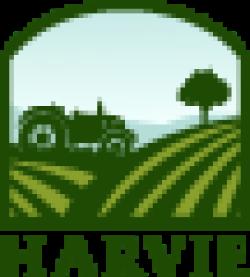 Harvie logo. Barr Farms uses Harvie to deliver CSAs near me