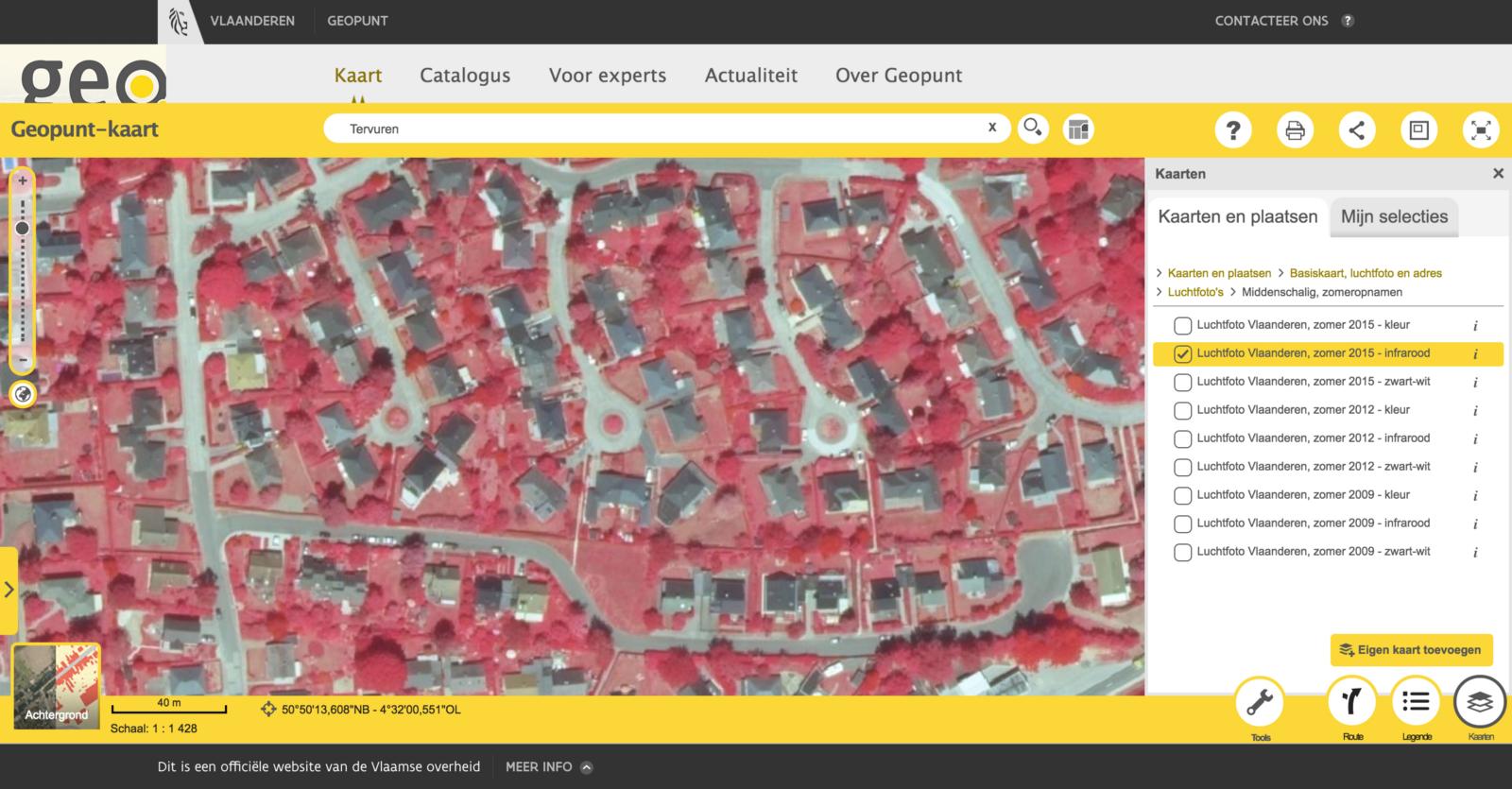 geopunt screenshot