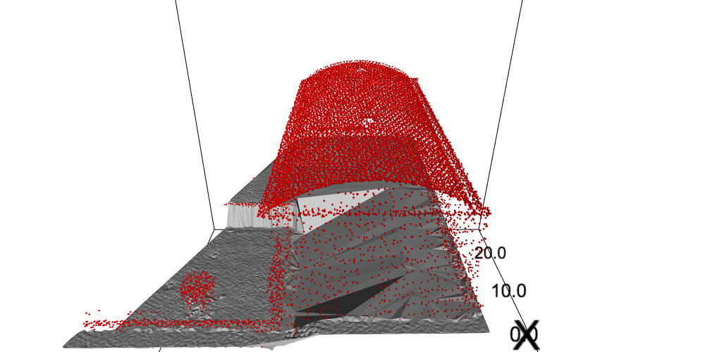 rotated building point cloud