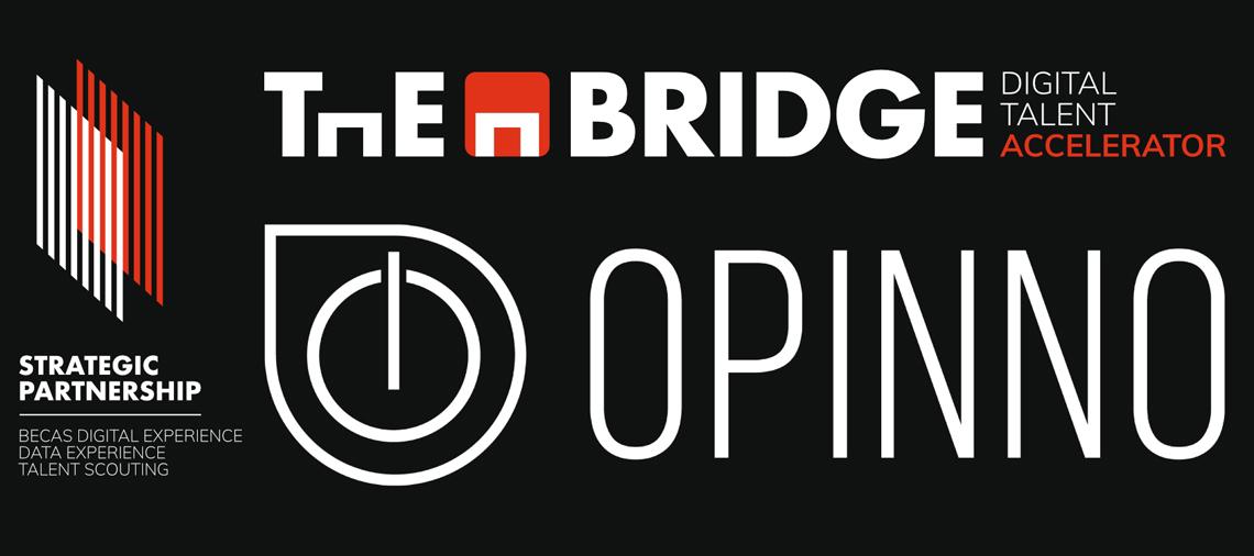 The Bridge y Opinno anuncian un acuerdo de colaboración para potenciar la formación y el talento en UI/UX, una de las áreas con más demanda de profesionales en la actualidad