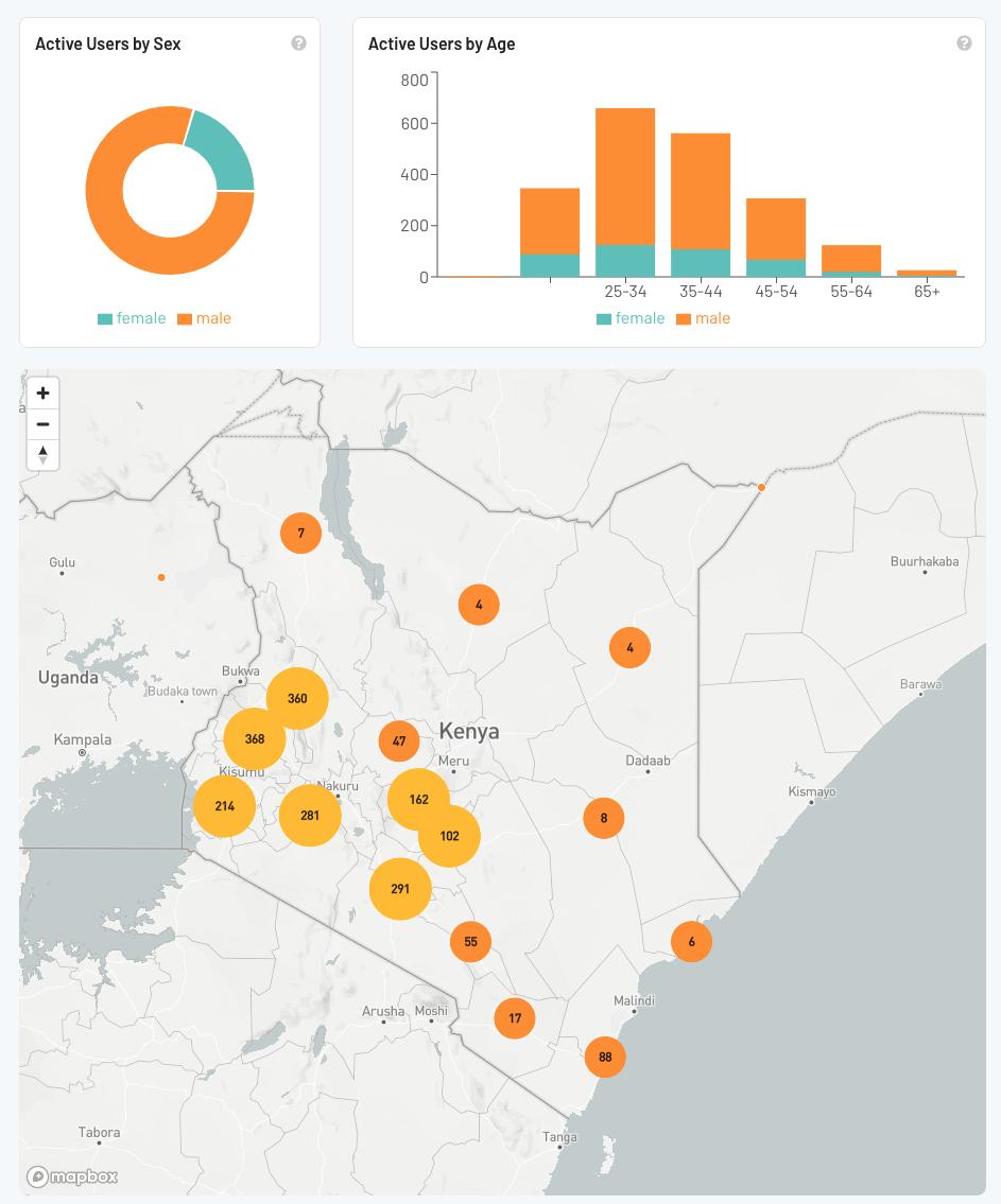 gender breakdown farmers kenya