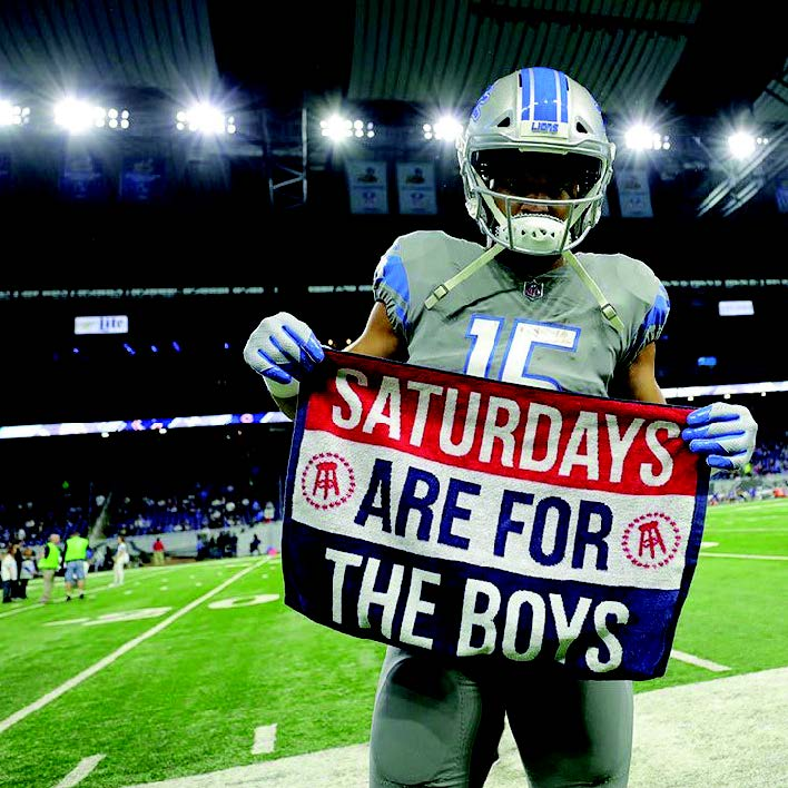 barstool sports saturdays are for the boys detroit lions football towel