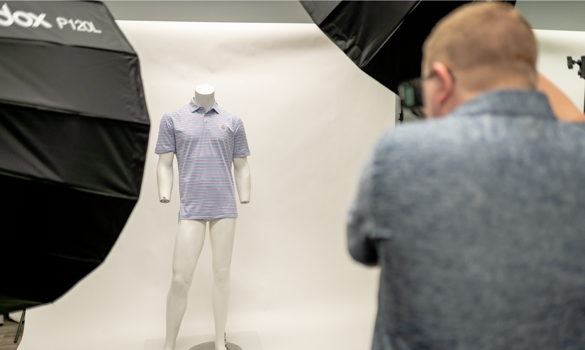 photography process of a polo for barstool sports