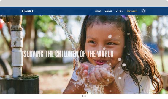 Kiwanis store mockup Serving the children of the world