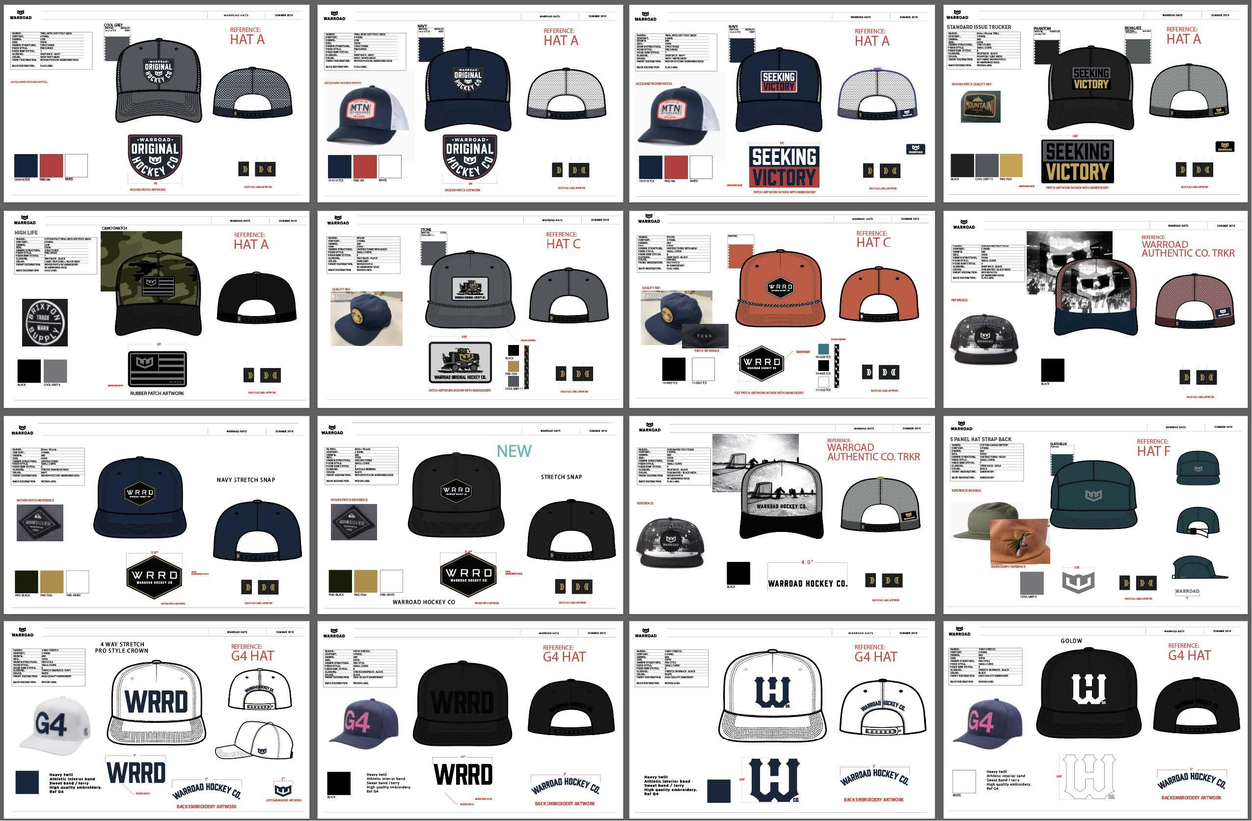 Warroad hat tech packs