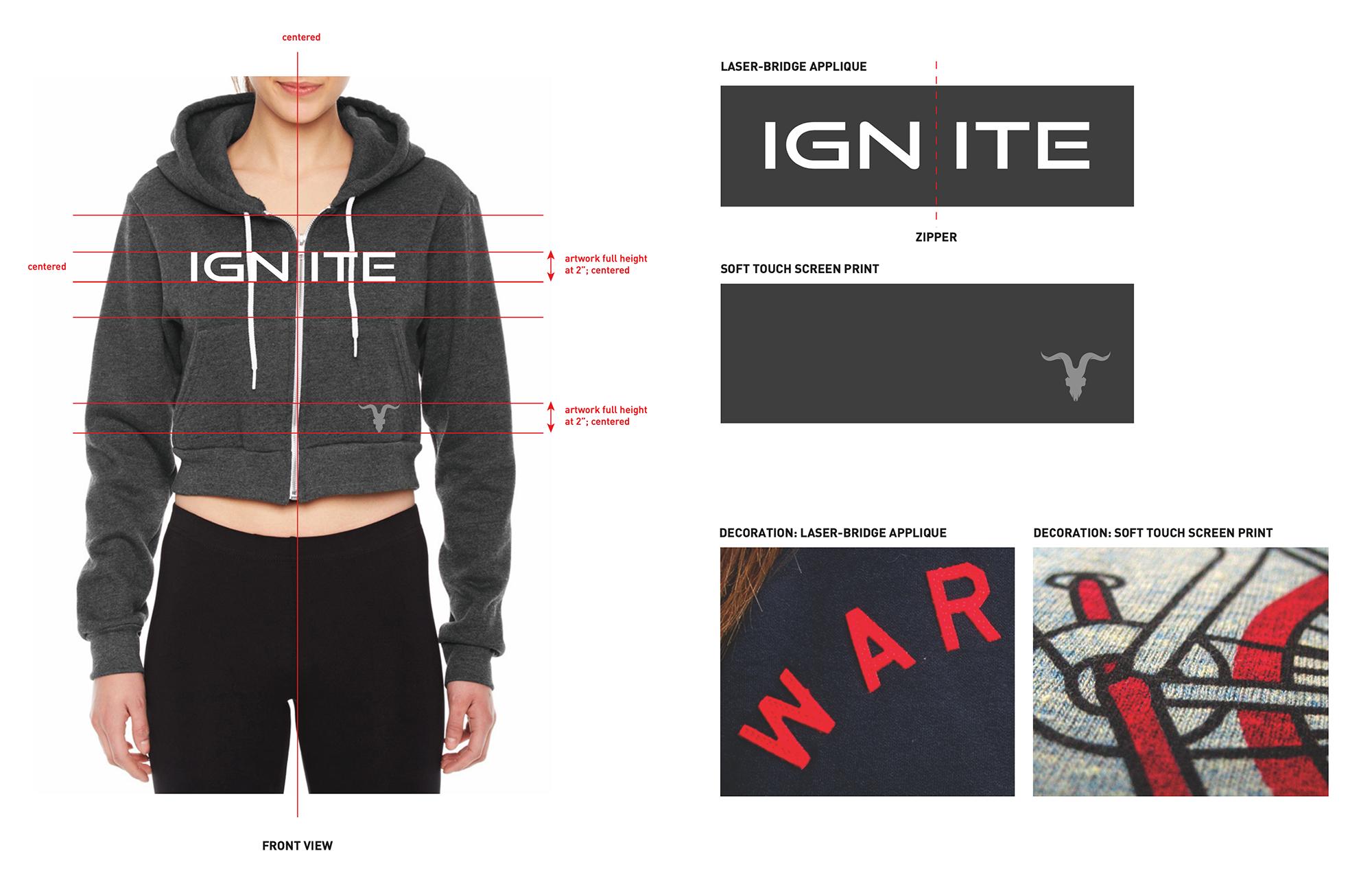 Ignite hoodie tech pack