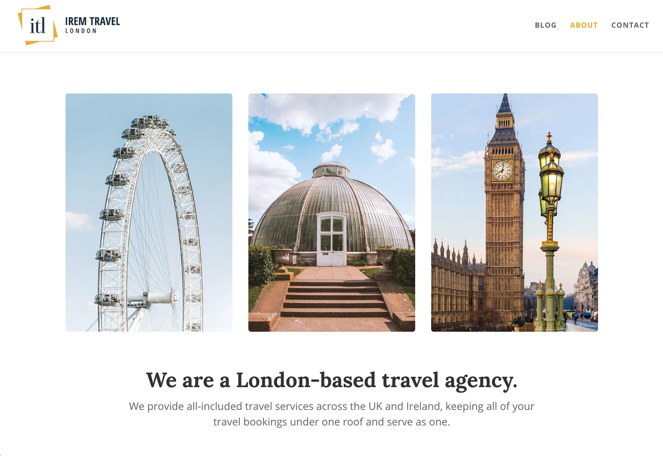 Irem Travel website preview