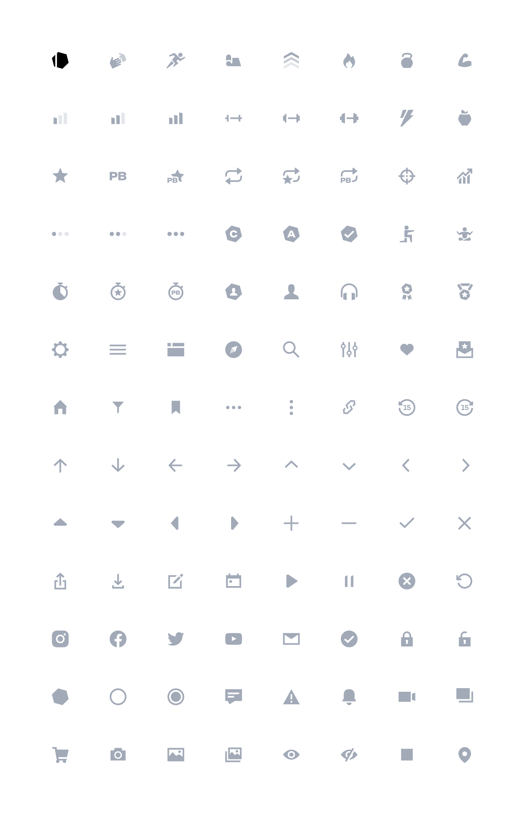 Grid of icons