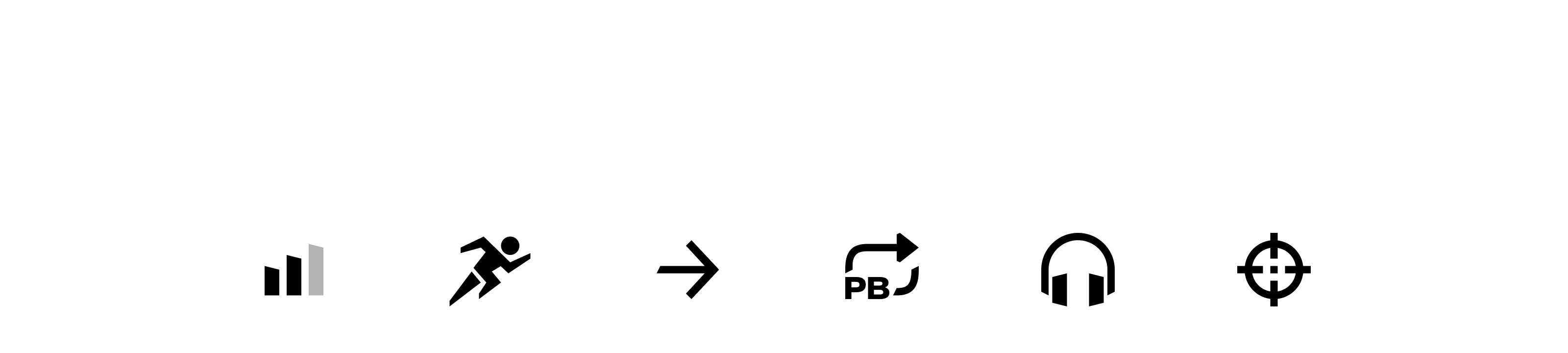 Grid of 16 black and white fitness icons