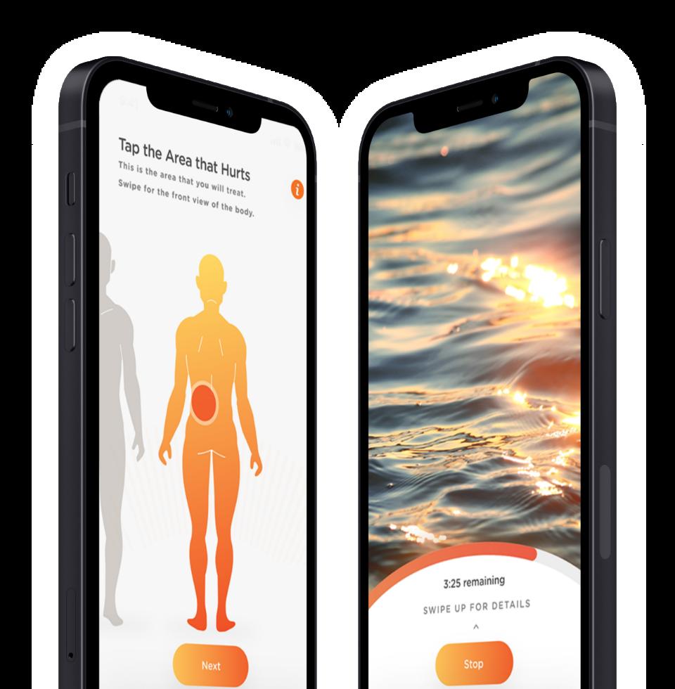 phones displaying Soovu app