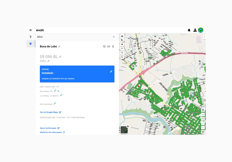 Como georreferenciar uma arvore com o sistema de gestão de arborização da Exati