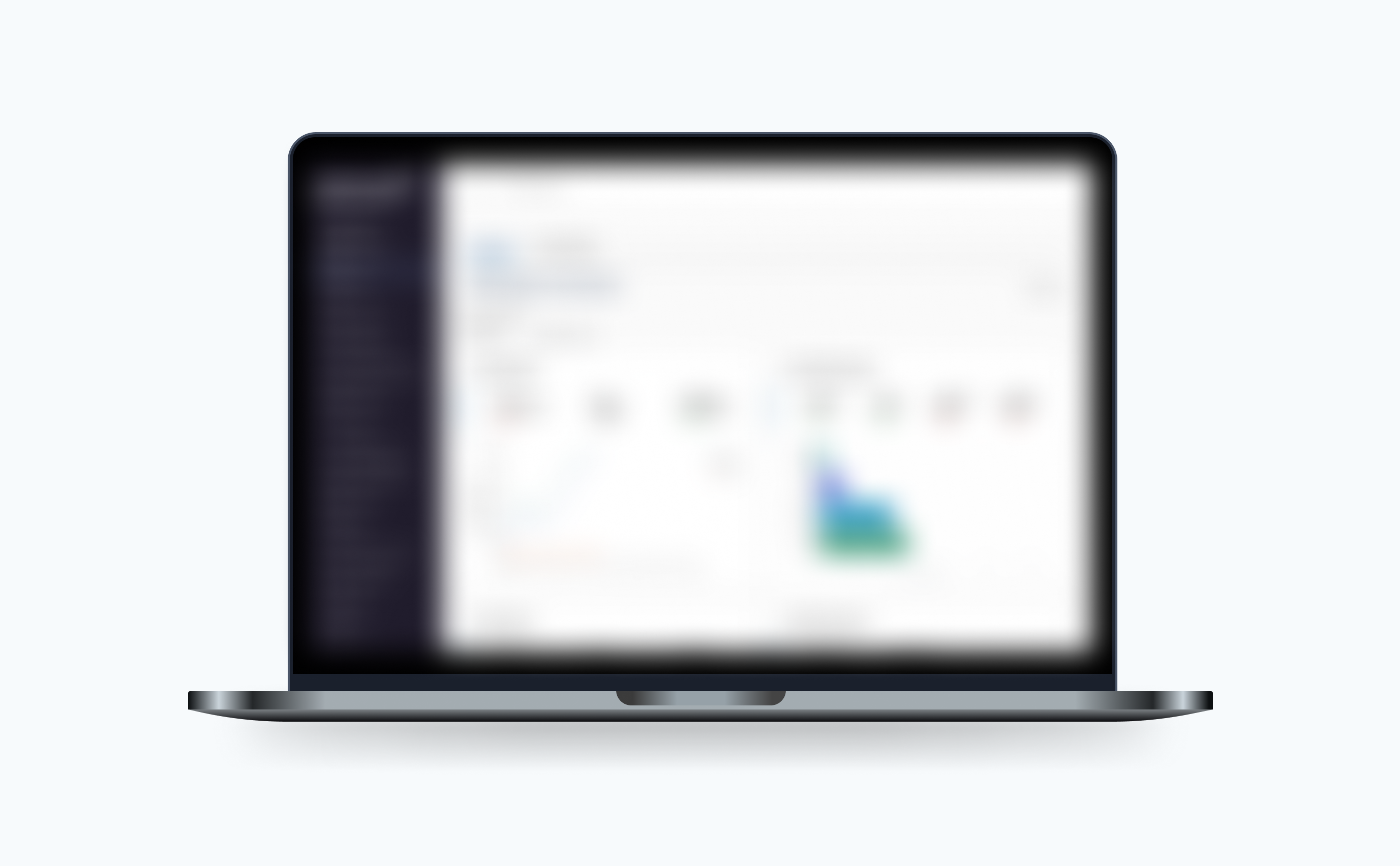 Blurred mockup of the data dashboard for govDelivery.
