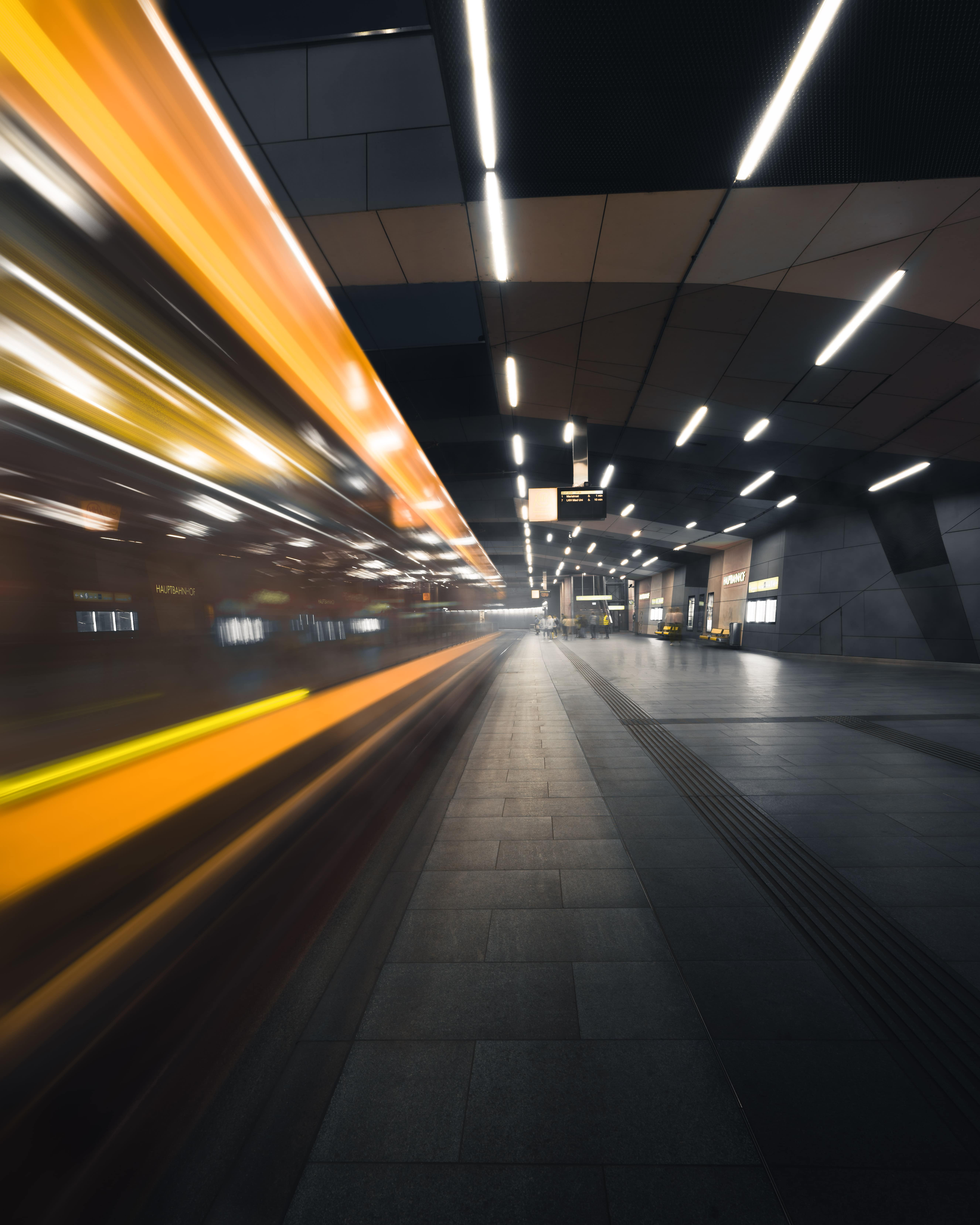 We follow your lead - image of fast train