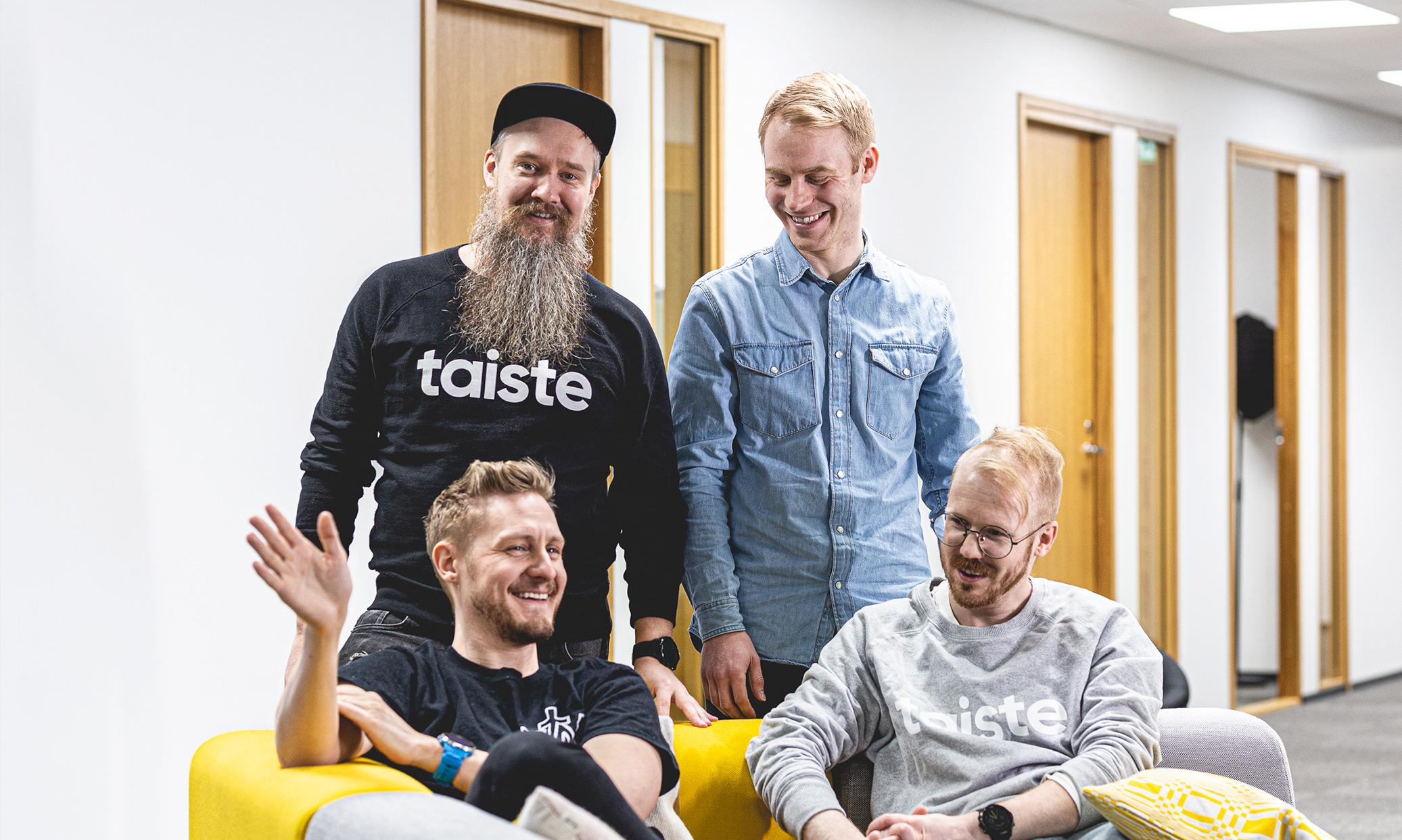 People from our Suunto team. (From top left to right): Ville Kaisla, Ville Ahti, Janne Säde and Valtteri Mäki.