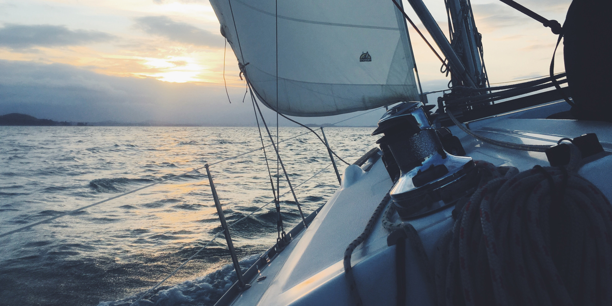 A boat at sea.