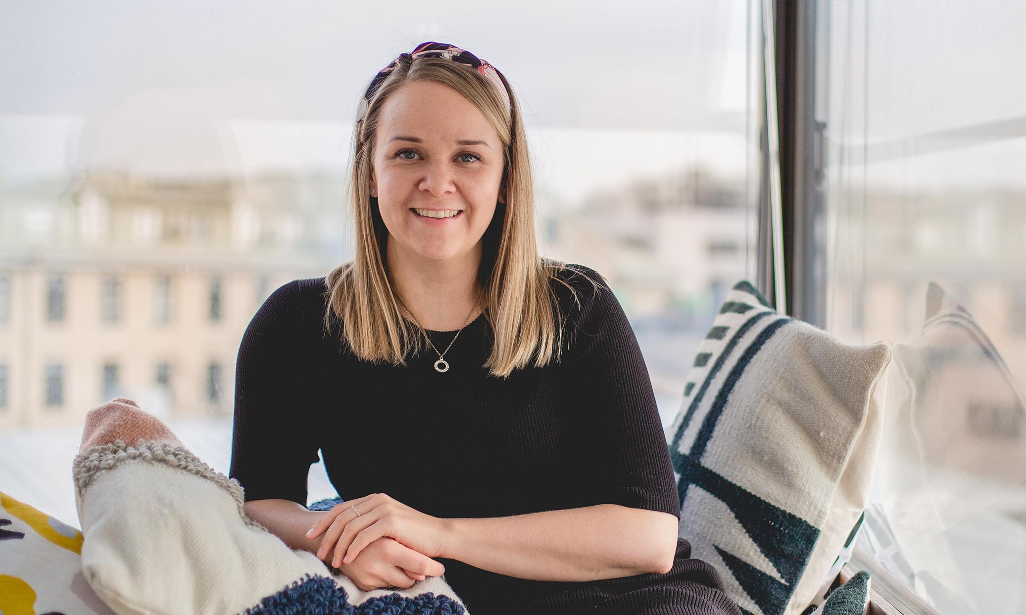 Photo of Niina Långström at the office.