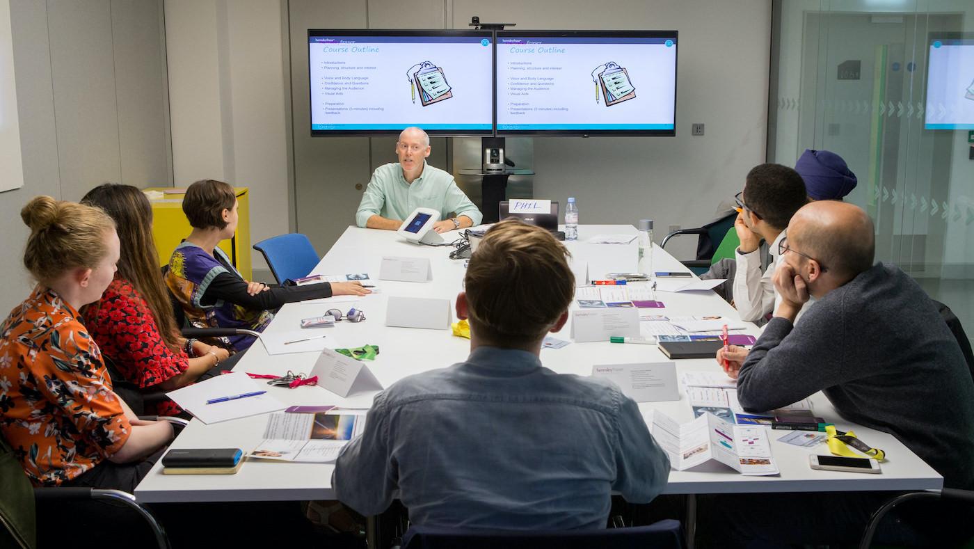 The Orbit team in a meeting.