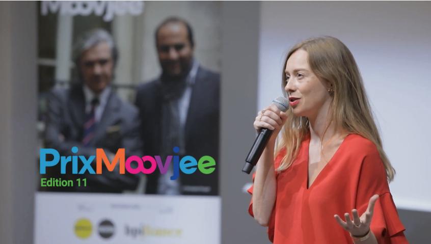 La fondatrice Céline Leblanc présente Mami-Boom à un événement