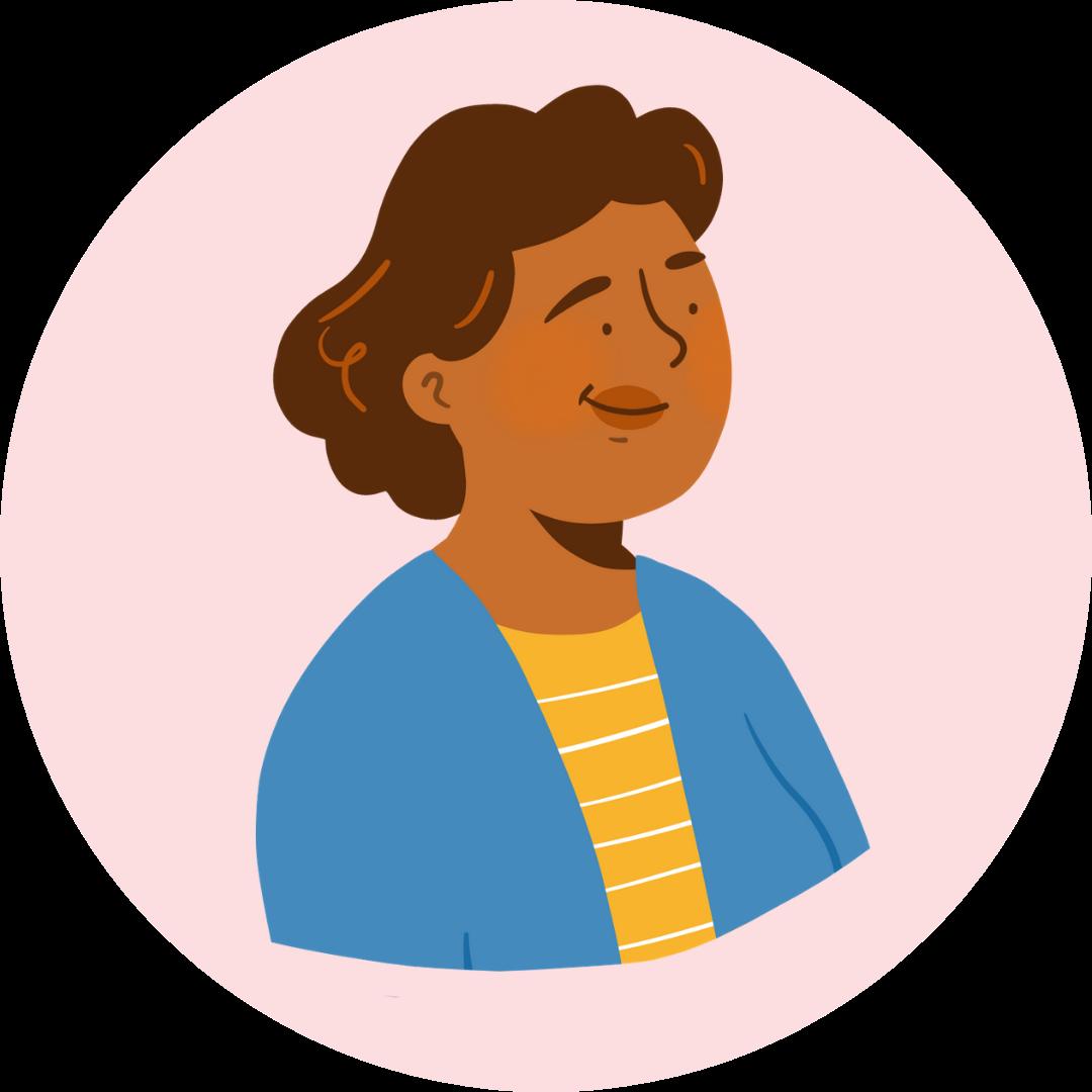 Illustration visage d'une proche de retraitée