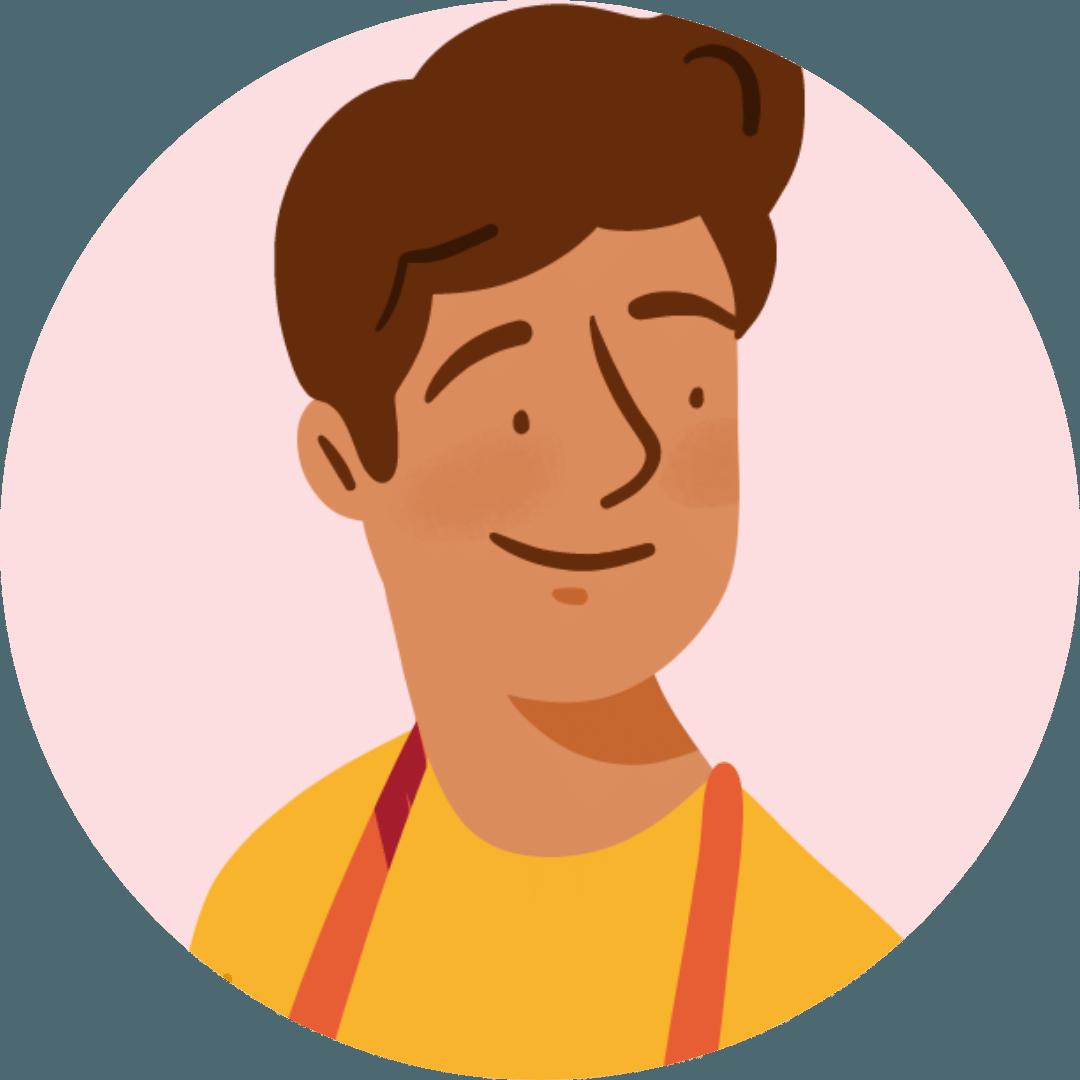 Illustration visage d'un accompagnateur