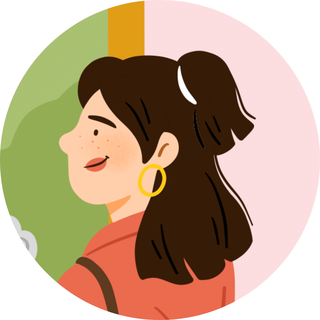 Illustration visage d'une Gentille Accompagnatrice