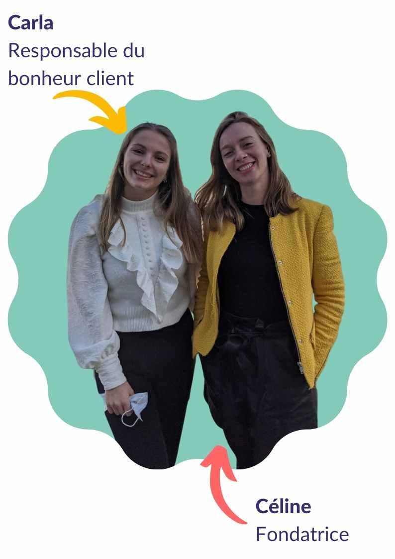 Photo d'équipe de 2 collaboratrices de Mamie-Boom