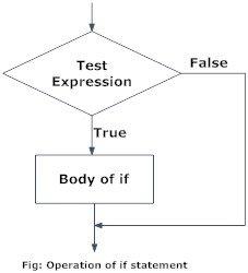 Flowchart of if statement in Python programming