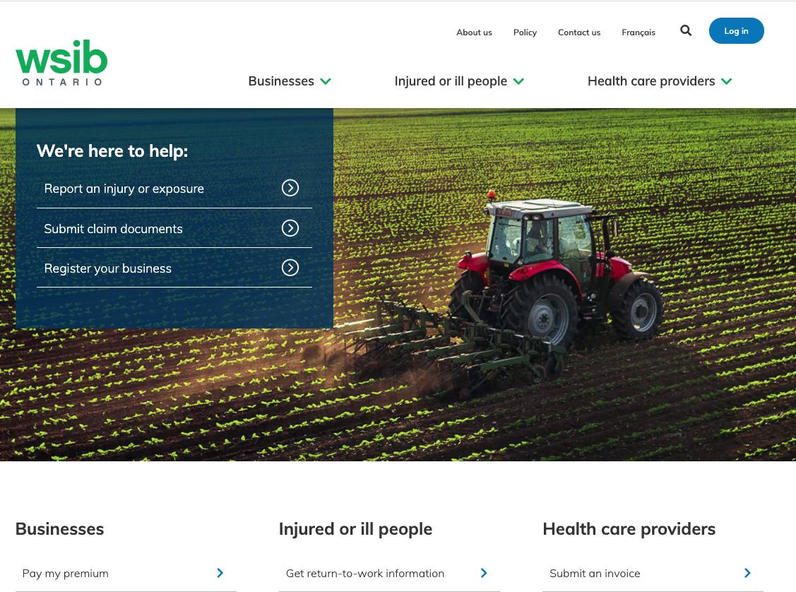WSIB Online Portal image