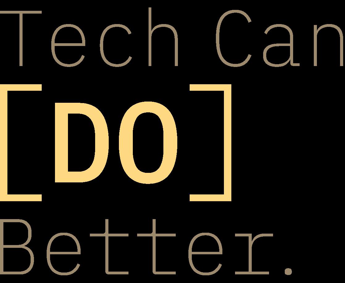 Tech Can Do Better wordmark