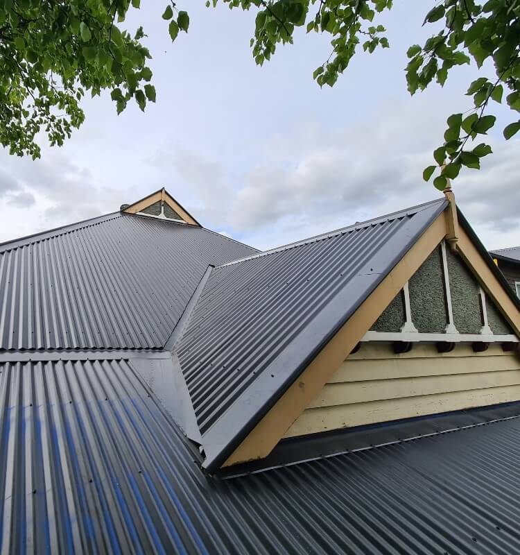 Metal roofing at a home in Glen Iris, Melbourne