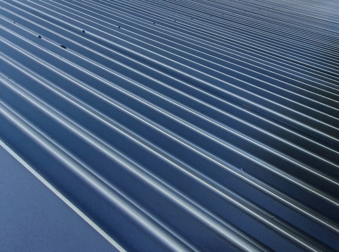 Close up image of Colorbond metal roofing in the Melbourne suburbs
